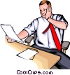 Vector Clipart graphic  of a Man with papers