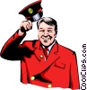 Vector Clip Art graphic  of a Doorman