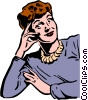 1950's woman Vector Clipart illustration