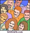Vector Clip Art graphic  of a multi-cultural people