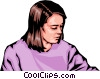 Vector Clipart picture  of a Woman
