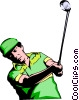 Vector Clipart illustration  of a Golfer