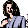 Vector Clipart illustration  of a Model