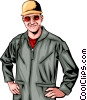 Vector Clipart graphic  of a Man with a jumpsuit