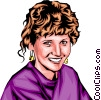 Vector Clip Art picture  of a Woman smiling