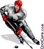 Hockey player Vector Clipart illustration