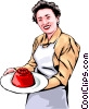 Woman with aspic Vector Clip Art picture