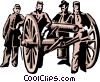 Civil war soldiers Vector Clipart illustration
