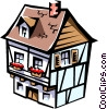 European house Vector Clipart picture