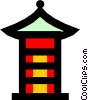 Japanese Pagoda Vector Clip Art graphic