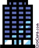 Office tower Vector Clipart illustration