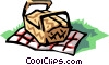 Vector Clipart graphic  of a Picnic baskets