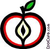 Vector Clipart picture  of an Apple