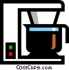 Electric coffee maker Vector Clipart illustration