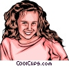 Vector Clip Art graphic  of a Little girl