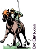 Vector Clip Art image  of a Horse race