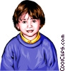 Vector Clipart image  of a Little boy