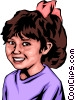 Vector Clipart graphic  of a Little girl