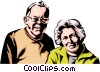 Older couple Vector Clipart picture