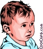 Vector Clipart image  of a Baby boy