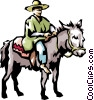 Vector Clip Art image  of a Coffee picker on a jackass