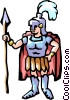 Vector Clip Art image  of a Roman guard