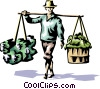 Rice picker Vector Clip Art picture