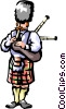 Scottish bagpipes Vector Clipart illustration