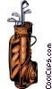 Vector Clip Art graphic  of a Golf clubs