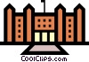 Vector Clipart graphic  of a Government buildings