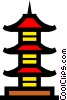 Vector Clip Art picture  of a Pagoda symbol