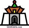 Vector Clip Art graphic  of a Building