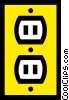 Vector Clipart graphic  of a Electric wall socket