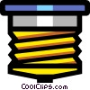 Vector Clip Art graphic  of a Glass fuse