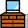 Vector Clipart illustration  of a Dresser