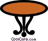 Coffee table Vector Clip Art picture