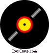 Vector Clip Art graphic  of a Vinyl record