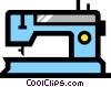 Vector Clip Art graphic  of a Sewing machines