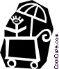 Vector Clipart picture  of a Child's carriage