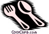 Vector Clip Art image  of a Spoon & fork