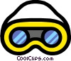 Vector Clipart illustration  of a Safety goggles