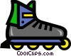 Vector Clipart illustration  of a In-line skates