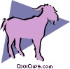 Goats Vector Clipart image