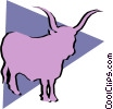 Bulls Vector Clip Art graphic
