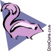 Vector Clipart image  of a Skunks
