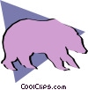 Vector Clipart picture  of a Bears