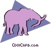 Vector Clipart graphic  of a Elephant