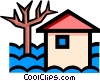 House flooded Vector Clipart picture