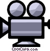 Motion picture camera Vector Clip Art graphic