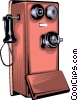 Antique telephone Vector Clip Art graphic
